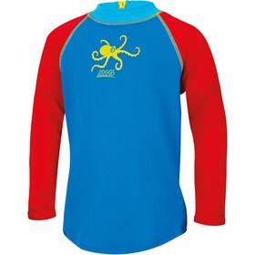 Zoggs Octopus Fever T-shirt anti-UV zippé Garçon, blue/multi